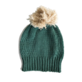 Bella and Lace Winter Pom Pom Beanie - Green Hills