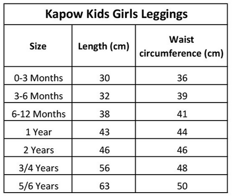 kapow-kids-leggings-size-chart