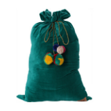 Kip & Co Green Velvet Santa Sack