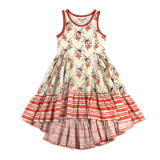 Paper Wings Deco Deer Bustle Swing Dress