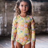 Rock Your Baby Flower Power Long Sleeve Swimsuit