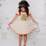 Rock Your Baby Reindeer Joy Circus Dress