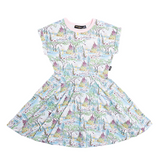 Rock Your Baby Swan Castle Waisted Dress