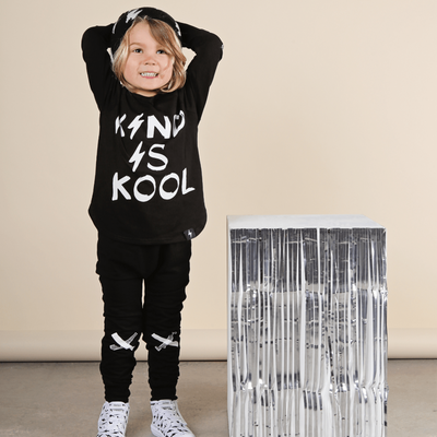 Kriss Kross French Terry Skinny Trackies - Black, KaPow Kids - Annie and Islabean