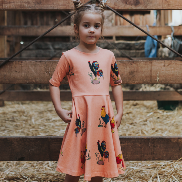 Brock The Rooster Short Sleeve Dress