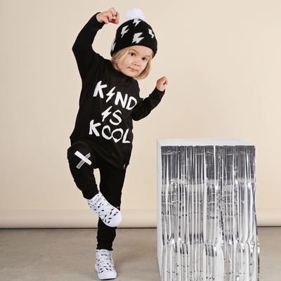 Kind Is Kool Long Sleeve Drop Back Tee, KaPow Kids - Annie and Islabean