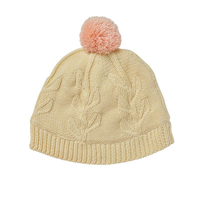 Acorn Olive Branch Beanie Cream - Annie and Islabean