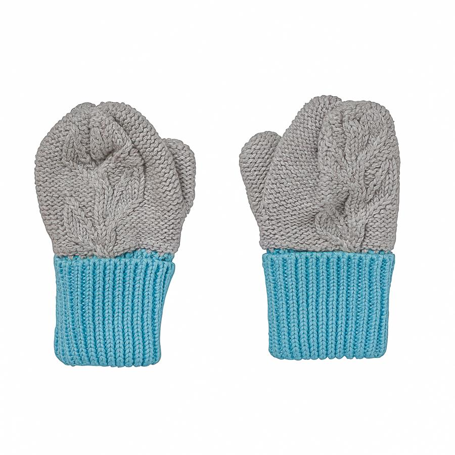 Acorn Olive Branch Mittens Grey - Annie and Islabean