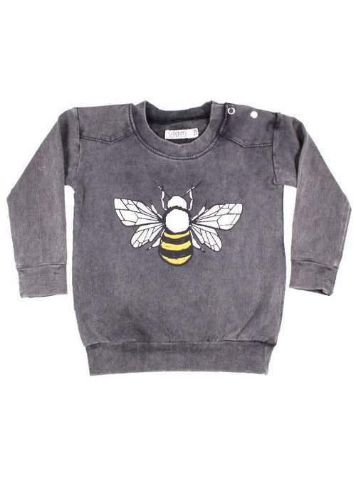 Sunday the Label Vintage Black Bee Pullover