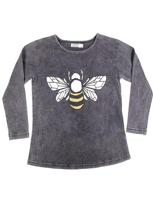 Sunday the Label Vintage Black Bee Long Sleeve Top