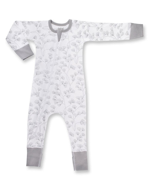 Sapling Child Zip Romper - Fern