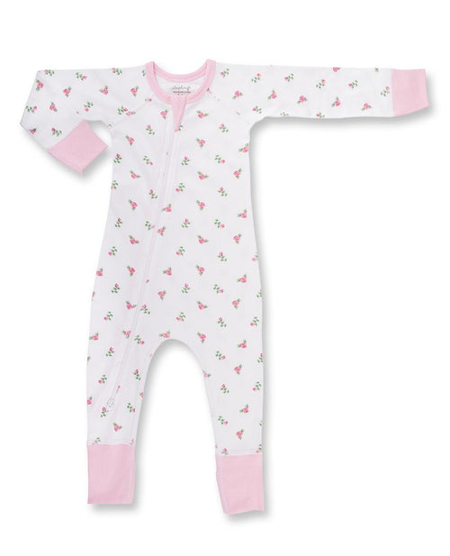 Sapling Child Zip Romper - Vintage Rose