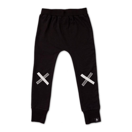 Kriss Kross French Terry Skinny Trackies - Black