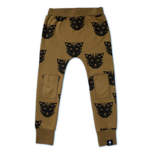 Tiger French Terry Knee Patch Skinny Trackies