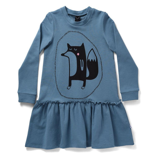 Littlehorn Sleepy Fox Dress, Dress, Littlehorn - Annie and Islabean