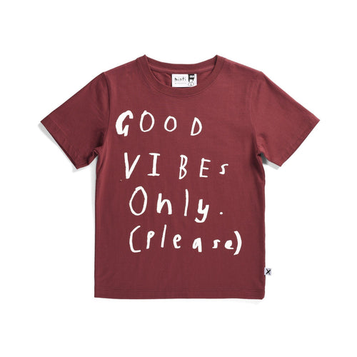 Minti Boys Burnt Red Good Vibes Tee