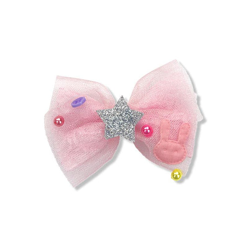 Party Bunny Bow Duck Clip - Pink