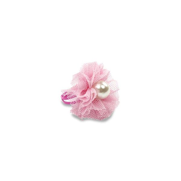 Tulle Pearl Ring - Dusty Pink