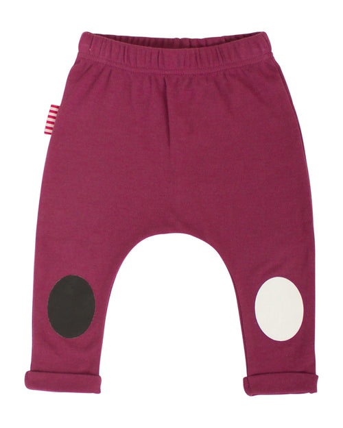 SOOKIbaby Burgundy Legging With Printed Patch