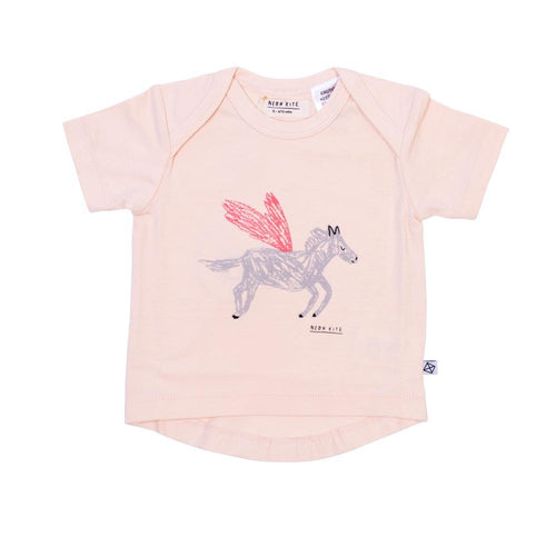 Neon Kite Pegasus Placement Baby Girl Tee