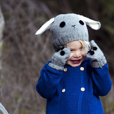 Acorn Bunny Beanie - Grey - Annie and Islabean