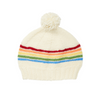 Acorn Rainbow Beanie - Cream - Annie and Islabean