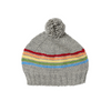 Acorn Rainbow Beanie - Grey - Annie and Islabean