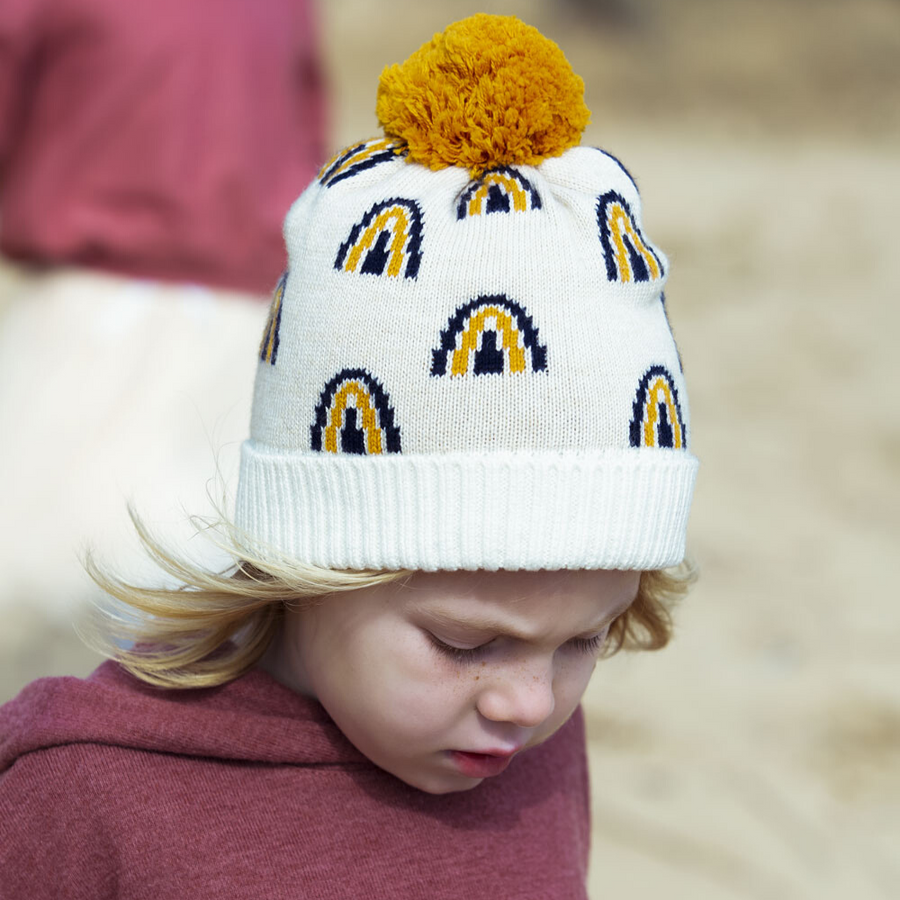 Acorn Rainbow Beanie - Annie and Islabean