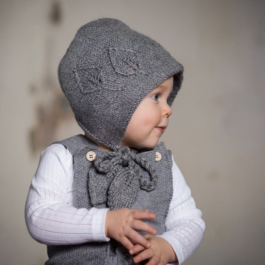 Acorn Leaf Bonnet Grey - Annie and Islabean