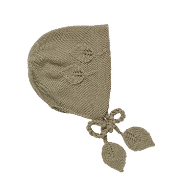 Acorn Leaf Bonnet Khaki - Annie and Islabean