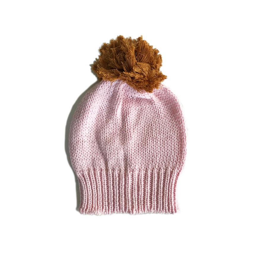 Bella and Lace Pom Pom Beanie - Milk Shake