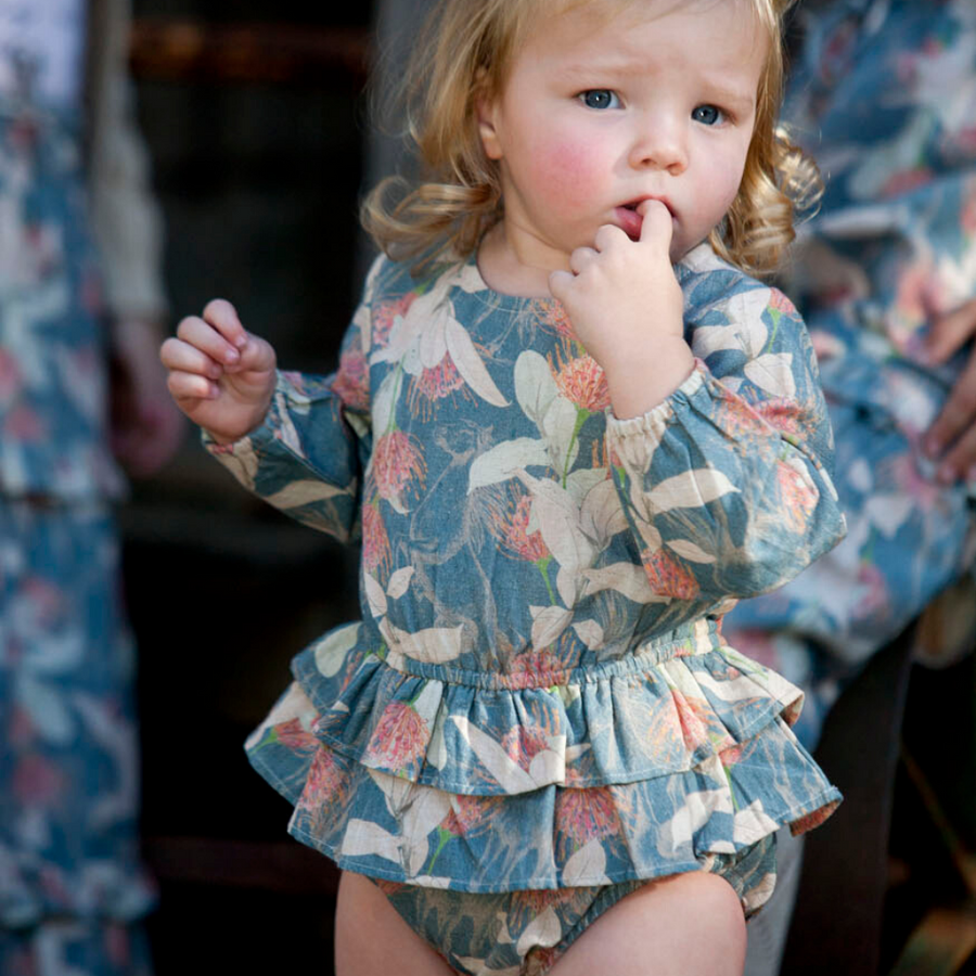 Pre-order Bella and Lace Sparrow Romper - Poney Fields - Annie and Islabean