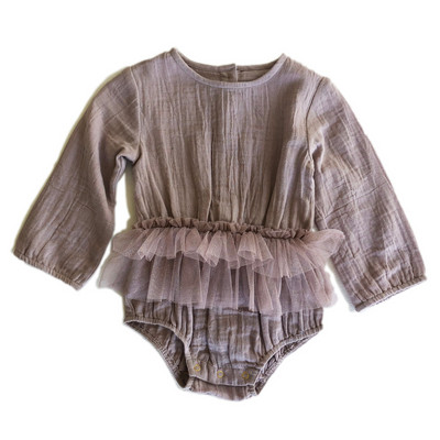 Bella and Lace Twinkle Romper - Mushroom - Annie and Islabean