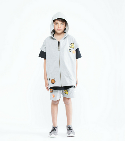 Cat Badges Sleeveless Hood, Band of Boys - Annie and Islabean