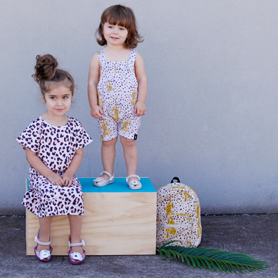 Leopard Overalls, KaPow Kids - Annie and Islabean