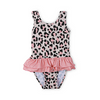 Cheetah Ruffle Swimsuit, KaPow Kids - Annie and Islabean