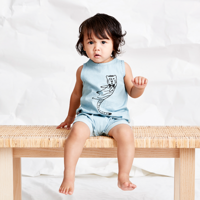 Cool Cat Chambray Playsuit, SOOKIbaby - Annie and Islabean
