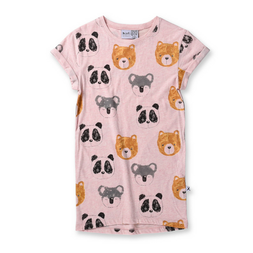 Pre-order Minti Different Bears Rolled Up Tee Dress