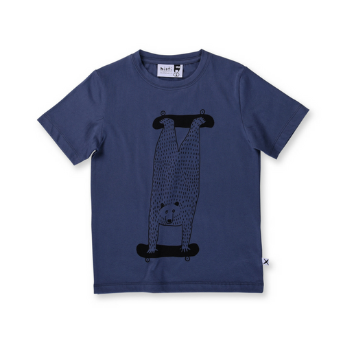 Pre-order Minti Double Skate Tee - Midnight Blue