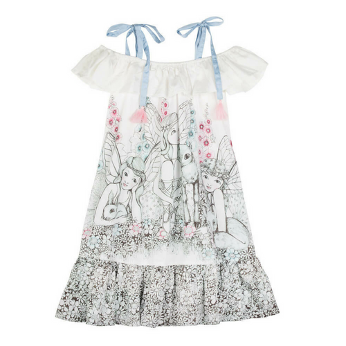 Pre-order Garden Fairies Off Shoulder Dress