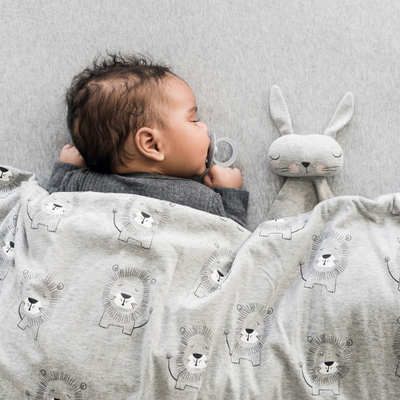 Grey Bunny Comforter, Mister Fly - Annie and Islabean