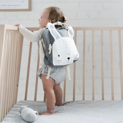 Mister Fly Grey Bunny Backpack - Annie and Islabean