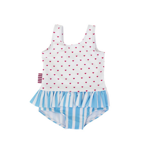 Heart Stripe Swimsuit, Swimwear, SOOKIbaby - Annie and Islabean
