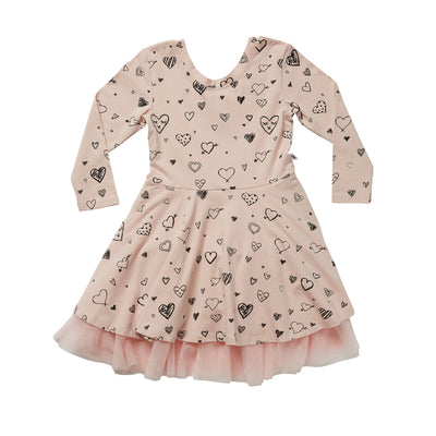 Hootkid Eloise Dress - Dusty Pink - Annie and Islabean