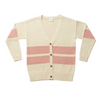 Hootkid Varsity Oversized Cardigan - Dusty Pink - Annie and Islabean