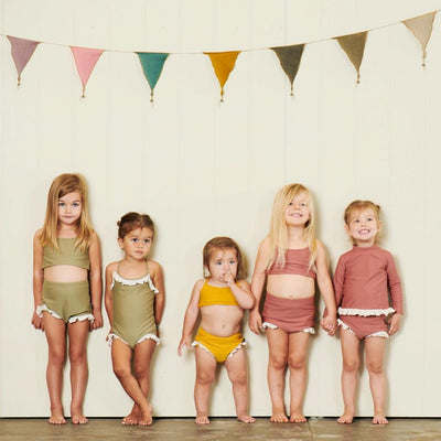 Hubble + Duke Luciana Swimsuit - Olive - Annie and Islabean