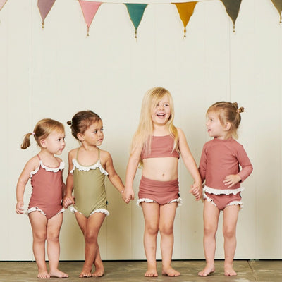 Hubble + Duke Marisol Swimsuit - Olive - Annie and Islabean