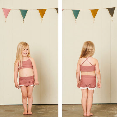 Hubble + Duke Luciana Swimsuit - Rosewood - Annie and Islabean
