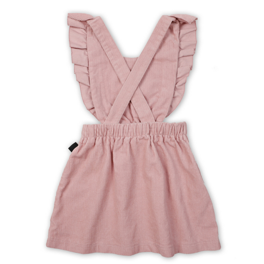 Kapow Kids Dusty Rose Ruffle Corduroy Pinafore - Annie and Islabean