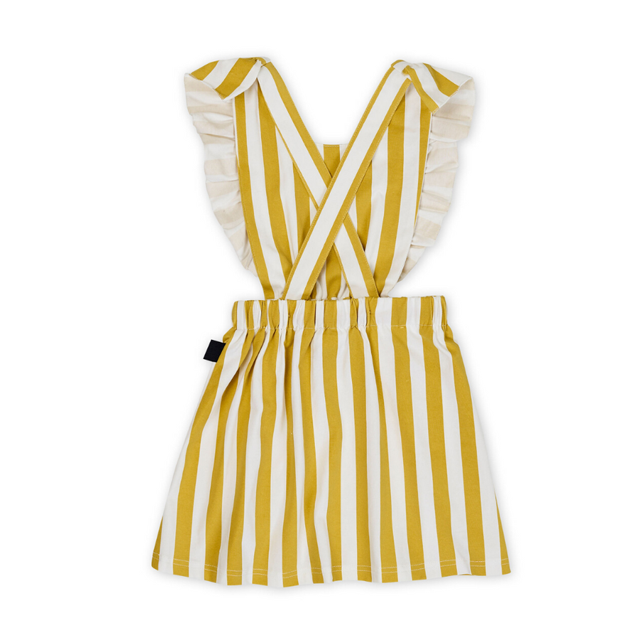 Kapow Kids Honeycomb Stripe Pinafore Dress - Annie and Islabean